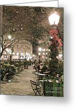 Christmas In Manhattan Greeting Card