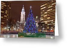 Christmas In Philadelphia Greeting Card