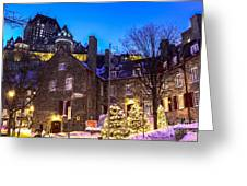 Christmas In Quebec Greeting Card