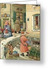 Christmas In The Town Greeting Card