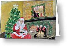Christmas Is For Sharing Greeting Card by Danae McKillop