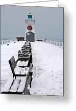 Christmas Lighthouse Greeting Card