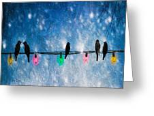 Christmas Lights Greeting Card by Bob Orsillo