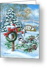 Christmas Mail Greeting Card by Richard De Wolfe