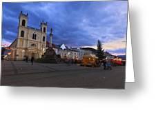 christmas market in Banska Bystrica Greeting Card