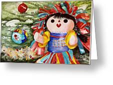 Christmas Muneca Greeting Card