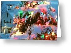 Christmas New Year Santa Claus Greeting Card