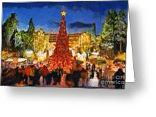 Christmas Night Greeting Card