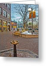 Christmas Old Town Greeting Card by Baywest Imaging