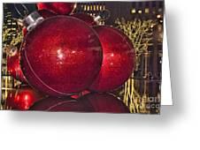 Christmas On 5th Avenue Manhattan 4 Greeting Card