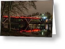 Christmas On Caveman Bridge Greeting Card