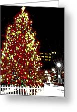 Christmas On Public Square Three Greeting Card