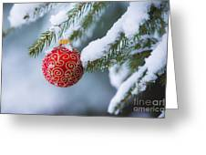 Christmas Ornament Greeting Card by Diane Diederich