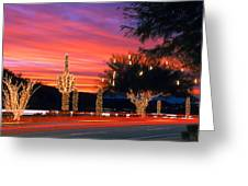 Christmas, Phoenix, Arizona, Usa Greeting Card