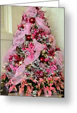Christmas Pink Greeting Card