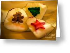 Christmas Potato Stamps Greeting Card