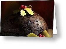 Christmas Pudding Greeting Card by Amanda Elwell