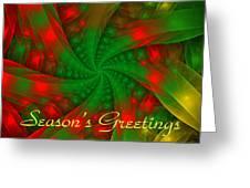 Christmas Ribbons Greeting Card