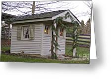 Christmas Shed Greeting Card