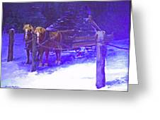 Christmas Sleigh Ride - Anticipation Greeting Card