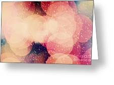 Christmas Snowing Blizzard Bokeh Background Greeting Card