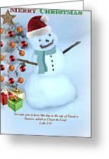 Christmas Snowman Greeting Card