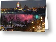 Christmas Spirit At Niagara Falls Greeting Card