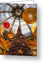 Christmas Spirit In Paris At The Galeries Lafayette 1 Greeting Card