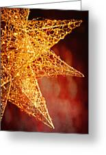 Christmas Star In Red Greeting Card