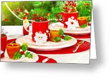Christmas Table Setting Greeting Card