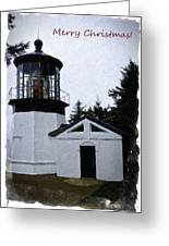 Christmas Time At Cape Meares Lighthouse Greeting Card