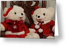 Christmas Time Bears Greeting Card