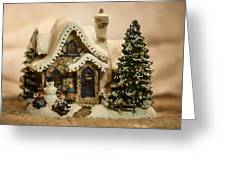 Christmas Toy Village Greeting Card