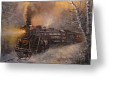 Christmas Train In Wisconsin Greeting Card