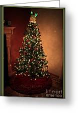 Red And Gold Christmas Tree Without Caption Greeting Card