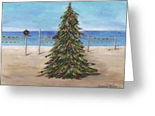 Christmas Tree At The Beach Greeting Card