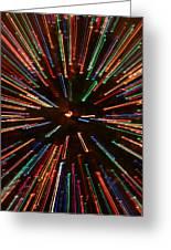 Christmas Tree At Warp Speed II Greeting Card