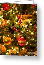 Christmas Tree Background Greeting Card by Elena Elisseeva