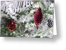 Christmas Tree Baubles Greeting Card