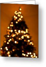 Christmas Tree Bokeh Greeting Card
