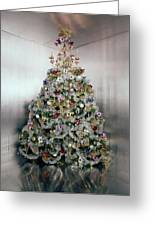 Christmas Tree Decorated By Gloria Vanderbilt Greeting Card