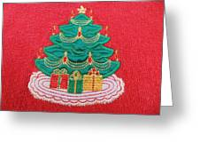 Christmas Tree Embroidered Greeting Card