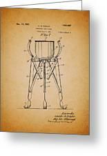 Christmas Tree Holder Patent 1927 Greeting Card