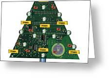 Christmas Tree Motherboard Greeting Card