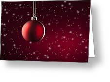 Christmas Tree Ornament Greeting Card
