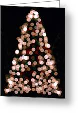 Christmas Tree Out Of Focus Greeting Card