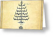 Christmas Tree Patent From 1882 - Vintage Greeting Card