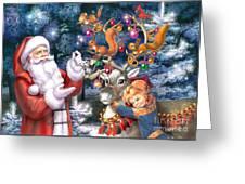 Christmas Tree-rudolph Greeting Card