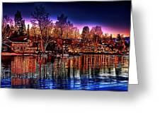 Christmas Twilight Greeting Card by Cary Shapiro