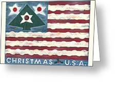 Christmas U.s.a. Greeting Card